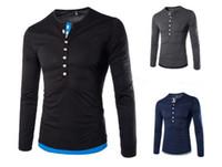 Wholesale Sport Fashin - v neck men t shirt brand fashin sport suit t shirt baseball sport mens clothing hot