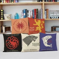Wholesale Pillow Patterns - Game of Thrones House Printed Sigils Cushions Car 10 Patterns Home Sofa Car Decorations A Song of Ice and Fire pillow Case