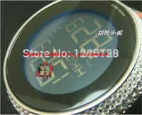marca relógios diamantes venda por atacado-Relógios de luxo Nova Marca Mens Digital de Quartzo 114 Diamante Branco Relogio YA114208 Esporte Relógios de Pulso dos homens Banda De Borracha Preta