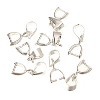 Wholesale Silver Plated Pendant Pinch Bails - 100 pcs Silver plated Pendant Pinch bails 15mm M615