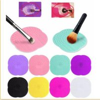 Wholesale Wholesale Cleaning Brushes - wholesale Silicone Makeup Brush cosmetic brush Cleaner Cleaning Scrubber Board Mat washing tools Pad Hand Tool