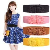 Wholesale Ladies Coats Wholesalers - Wholesale - New elastic waist belt ladies waist belt buckle elasticity belts coat decoration multi color CA047