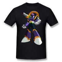 Wholesale X Men Art Print - Mega Man X Robot Graphic Printed Art Design T-Shirt 2017 new High Quality 100% Cotton men's T Shirt cheap sell Free shipping