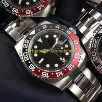 Wholesale Mens Automatic Gmt - New Top AAA Quality Luxury Watch Ceramic GMT 2 II 116710 Stainless Steel Automatic mechanical Wristwatch Business Brand Mens Watches