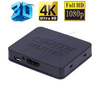 akıllı telefon için hdmi kablosu toptan satış-Ultra HD 4 K HDMI Splitter Full HD 3D 1080 p Video HDMI Anahtarı Switcher 1X2 Bölünmüş 1 2 Out Amplifikatör Çift Ekran