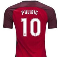 Wholesale Cheap National Team Soccer Jerseys - 2018 World Cup Jersey,Customized Soccer Top Thai Quality 17-18 Pulisic 10 National Team Red Soccer Jersey,Cheap Soccer Jerseys Discount