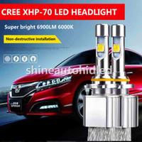 Wholesale Cree Led H4 Headlight Bulbs - 1Set Cree XHP-70 LED Headlight Canbus EMC Kit Bulb 110W 13200LM 6000k H4 H7 h9 H11 9005 9006 9012 Beam Replace Halogen xenon bulbs