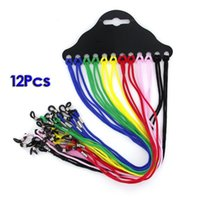 Wholesale String Slips - cheap 12piece for dozen anti-slip mmuti-color sunglasses string glasses neck cord retainer strap with good silicon loop freeshipping