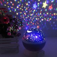 Wholesale Projector Baby - BedRoom Novelty Night Light Projector Lamp Rotary Flashing Starry Star Moon Sky Star Projector for Kids Children Baby