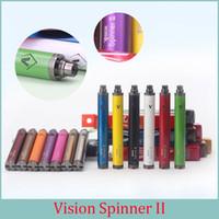 Wholesale Cigarette Spinner - Vision Spinner II 13 colors 1650 mah Electronic Cigarettes Ego Twist 3.3V-4.8V Vision Spinner 2 Ecigs For E cigarette Vape Pen