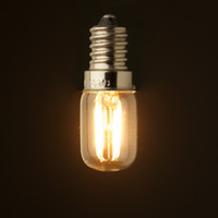 Bulbo retro del filamento del LED, 1W 2200K, base E12 E14, estilo claro de Edison T20 / T6, luces del hogar, regulable