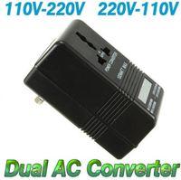 Wholesale Voltage Adapters Converters - 2 Mode Dual Voltage Converter AC 100W 110V 120V to 220V 240V US-EU Transformer Power Converter Adapter Electrical Equipment & Supplie