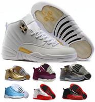 Wholesale Retro 12 Taxi Size 13 - OVO Retro 12 XII Basketball Shoes Sneaker Women Men Taxi Playoffs Gamma Blue Grey Sports Retros Shoes J12s Replicas Size US5.5-13