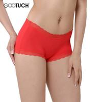 Wholesale Modal Underwear Women Short - Basic Women Sexy Boxer Lace Trim Ladies Underwear Women's Modal Lingerie 4XL 5XL 6XL Female Breathable Panties G-2466