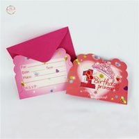 Wholesale Children Birthday Party Themes - Wholesale- 6Sets Lots Sport Theme Invitation Cards For Children Birthday Party Decoration Party Supplies Baby Shower Kids Favor