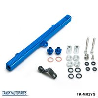 inyectores de combustible toyota al por mayor-TANSKY - Para Toyota Celica MR2 3S-GTE Inyectores de combustible de aluminio Blue Performance Inject Rail Kit Azul TK-MR2YG