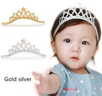 Wholesale Crown Hair Band For Girls - Fashion Children Hair Accessories Kids Head Bands Infants 2017 Korean birthday Princess Crown Headbands For Girls Baby Hair Accessories