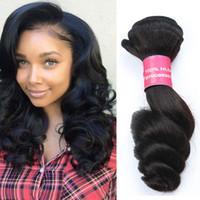 düz dalgalar saç toptan satış-Seksi Formülü Ürünleri Çift Atkı Doğal Renk Brezilyalı Bakire Saç Gevşek Dalga Yumuşak ve Pürüzsüz Saç Demetleri Brezilyalı Saç Boyalı