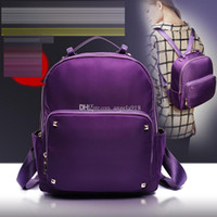 Wholesale Backpack Studs - 5 color Quality fashion waterproof nylon studs rivets backpack bag Free shipping E1914