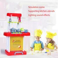 Wholesale Playhouses Plastic - Wholesale- play kitchen set cooking toys play miniature mini kitchen utensils children kids cooking set plastic pretend play playhouse toys