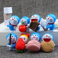Wholesale brinquedos funko pop Doraemon gourmet Dessert time Makaron strawberry Action Figure doll baby boy and girl Toys anime juguet