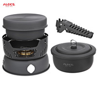 Wholesale Cooking For Person - ALOCS CW - C05 10pcs Set Camping Cook Set High Quality Portable 2 - 4 Person Kitchenware Outdoor Tablewares For Outdoor Picnic +B