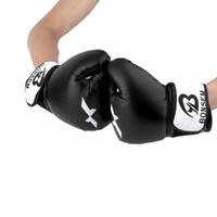 boxhandschuhe design großhandel-Bonsem PU Leder Trainingshandschuhe New Style Boxhandschuhe 2 Farben Optional Komfortable Design Trainingshandschuh Schutzausrüstung