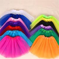 Wholesale Ballet Tutu Dance Costume - Ruffle Skirt Dance Girl Baby Girls Childrens Kids Dancing Tulle Tutu Skirts Pettiskirt Dancewear Ballet Dress Fancy Skirts Costume DHL
