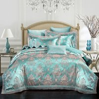 Wholesale Lace Luxury Duvet Sets - Luxury modal silk bedding sets lace bed clothes home textiles zipper duvet comforter cover bed sheet pillowcases queen king size hot 5814