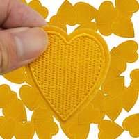 Patch fai da te Orange love per abbigliamento ferro ricamato patch applique ferro su patch accessori per cucire adesivo distintivo sui vestiti