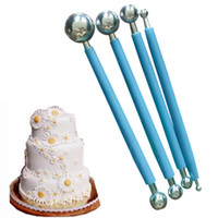 Wholesale ball tools fondant online - set Stainless Steel Molding Ball Sticks Tool Sugarcraft Fondant Cake Decoration Flower Mold Baking Tools
