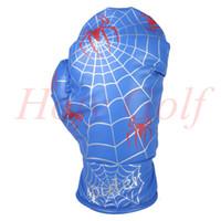 diseño de tela de araña al por mayor-Spider Web Design Guante de boxeo Conductor Wood blanco / azul Cubierta Golf Club Driver Headcover