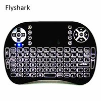 Wholesale Wholesale Remote Tv - Rii I8 2.4GHz Wireless Mouse Gaming Keyboards White Backlight Multi-color Backlit Remote Control for S905X S912 TV Android Box T95 X96