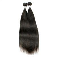 haarstücke für weben großhandel-2 Stück brasilianische glatte Haarwebart bündelt natürliche braune Farbe peruanische malaysische mongolische rohe Jungfrau indische gerade Menschenhaar