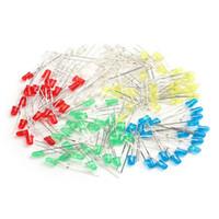 Wholesale 3mm Led Kit - Wholesale- 100Pcs Lot 3mm LED Light White Yellow Red Green Blue Assorted Kit DIY LEDs Set electronic diy kit