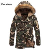 Wholesale Veste Camouflage - Wholesale- Men Winter Camouflage Padded Jackets Coats Veste Hmme 2016 Men's Casual Fashion Parkas Jaqueta Maculina Slim Fit Wadded Jackets