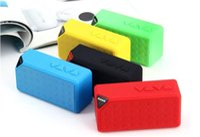 Wholesale Dhl Mini Rechargeable Speaker Bluetooth - Factory Price Rechargeable X3 bluetooth mini wireless speaker 5 colors available FM TF DHL free