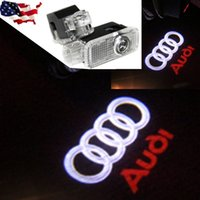 Wholesale Audi Ghost Shadow - No damage wireless car door Ghost Light Welcome Light projector welcome led lamp ghost shadow light for Audi A6L A7 A8L A4 Q3 A5 Q7