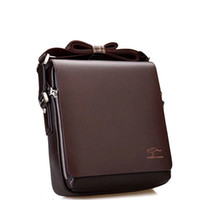 Wholesale Good Coupons - Wholesale- COUPON NEW arrivel brand good quality Leather zipper solid brown simple small flap Men Messenger crossbody Shoulder Bags black
