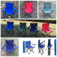 Wholesale Folding Camping Arm Chair With Cup Holder Outdoor Foldable Fold Up Seat Deck Fishing Beach Chair OOA2037