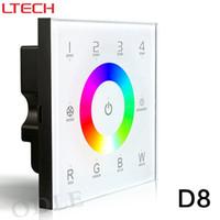 Wholesale Dmx512 Rgb Controller - D8 LED rgb RGBW touch panel dimmer controller DMX512 controller,DC12-24V 4 zones 4channels DMX 512 control, Output DMX512 signal