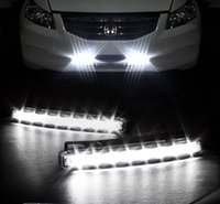 Universal DRL 2Pcs DC 12V 8W 8LED Car Daytime Driving Running Light Head FOG Lâmpada Super White Color Waterproof External Led Car Styling