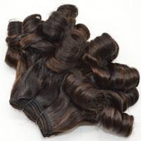 malezya funmi saç toptan satış-Malezya Mix Renk Funmi Saç Atkı 3 Demetleri Siyah Kadınlar için 8-30 inç Funmi Saç FDSHINE