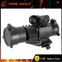 Wholesale Green Rails - FIRE WOLF Red Green Dot Riflescopes 32mm M2 Sighting Telescope Tactical Laser Gun Sight scope for Picatinny Rail rifle