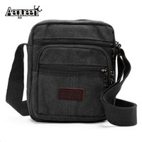 Wholesale Wholesale Mens Handbags - Wholesale-Mens Shoulder Crossbody Bags New Multifunction Male Travel Small Handbags Zipper Solid 4 Colors Casual New Messenger Bag