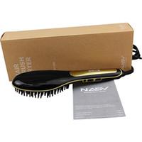 Wholesale 24v 25w - Original Beautiful Star Nasv Flat Iron with Led Display Temperature Control 210-24V 80-230 Degree flat iron hair straightener