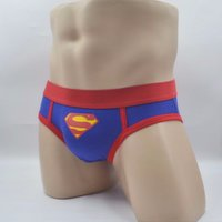 Wholesale Men S Superman Underwear - European and American fashion classic blue young mens underwear low-waist cotton briefs Superman S tide underwear men