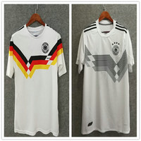 Wholesale Russian Men Clothes - ^_^ Wholesale 2018 russian world cup Deutsch home 1990 GermanY retro home soccer jerseys top quality football shirts soccer clothing