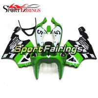 Green White Completo ABS Plastic Motorcycle Fairing Kit para Kawasaki ZX7R ZX-7R Ano 1996 1997 1998 1999 2000 2001 2002 2003 Ano 96-03 Casco