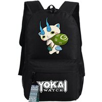 Wholesale Stylish Boys Watches - Koma inu backpack Yokai watch stylish day pack Komajiro cartoon school bag Anime packsack Quality rucksack Sport schoolbag Outdoor daypack